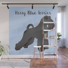 Kerry Blue Terrier Dog Silhouette Wall Mural