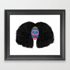 B-Mask Framed Art Print