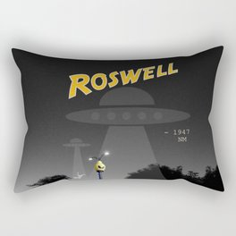 Aliens Over Roswell Rectangular Pillow