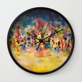 African American Masterpiece 'Untitled' No. 3 by Norman Lewis Wall Clock