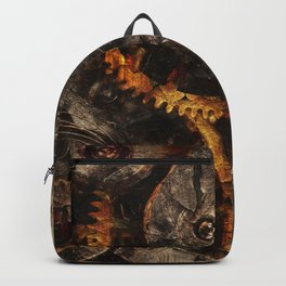Gearing Up - Steampunk Gears Backpack