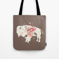 Floral Buffalo Tote Bag