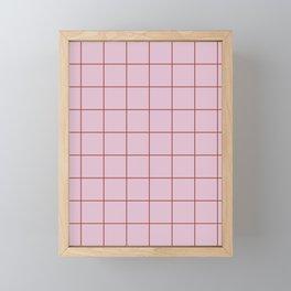 Citymap Grid - Lilac/Rust Framed Mini Art Print