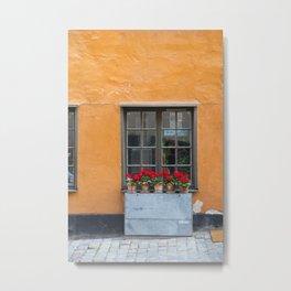 Gamla Stan Window Metal Print