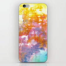 OFF THE GRID 3 Colorful Pastel Neon Purple Rust Yellow Abstract Watercolor Acrylic Textural Painting iPhone & iPod Skin