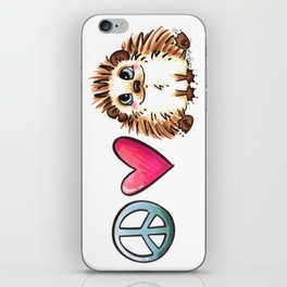 Peace, Love and Hedgehogs iPhone Skin