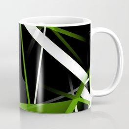 Seamless Grass Green and White Stripes on A Black Background Coffee Mug