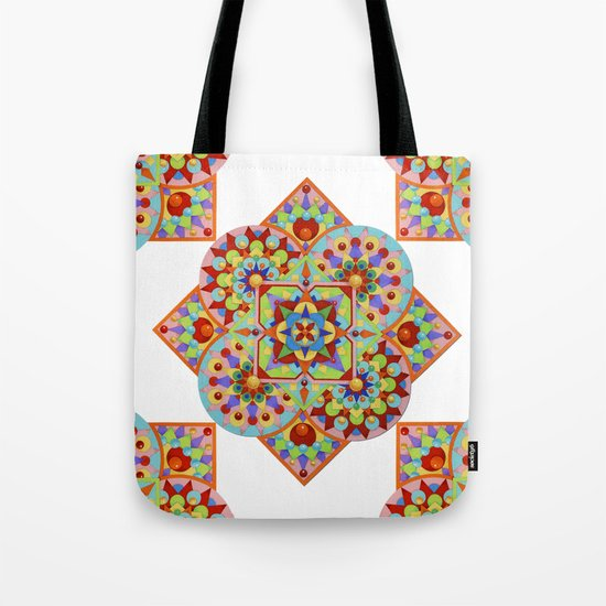 Chartres Mandala Tote Bag