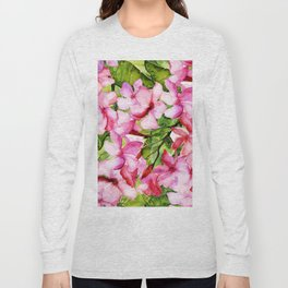 Aloha-my tropical pink oleander flower garden Long Sleeve T-shirt