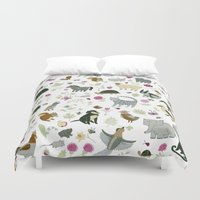 toddler Duvet Covers featuring Animal Chart by Yuliya