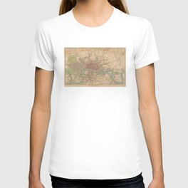 Vintage Map of London England (1815) T-shirt