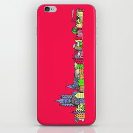 Sketchy Town in pink iPhone Skin