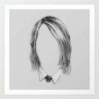 Art Print featuring This is my tribute to the great grunge-rock musician... Nevermind by Podessto