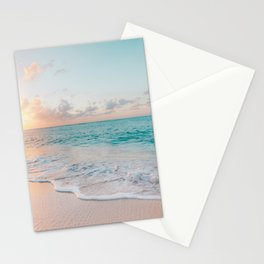 Beautiful tropical turquoise sandy beach photo Stationery Cards
