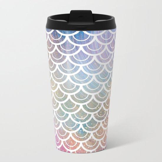 Mermaid Rainbow Sparkle Metal Travel Mug