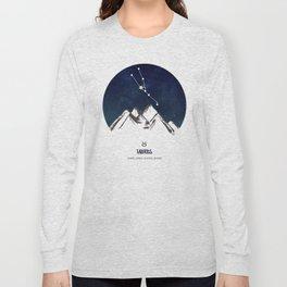 Astrology Taurus Zodiac Horoscope Constellation Star Sign Watercolor Poster Wall Art Long Sleeve T-shirt