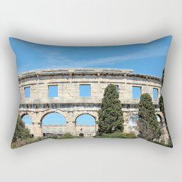 pula croatia ancient arena amphitheatre Rectangular Pillow