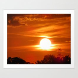 Sailor's Delight-Orange & Black Art-Sunset-Orange Sky Art Print