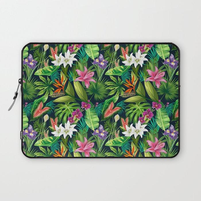 Tropical Lush Sanctuary, A Bohemian Paradise Laptop Sleeve