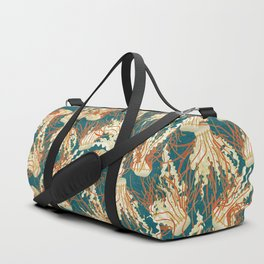 jellyfish blue Duffle Bag