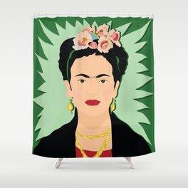 Frida Khalo (Green) | Bad Ass Women Series Shower Curtain