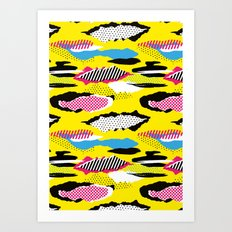1980s Retro Fashion Print 'The Inter-net' Art Print