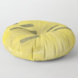 Stasis Gray & Gold 3 Floor Pillow