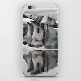Ashy Glaciers. iPhone Skin