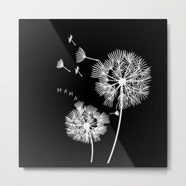 Mama Dandelion Gift Mom Baby Expectant Mother Metal Print