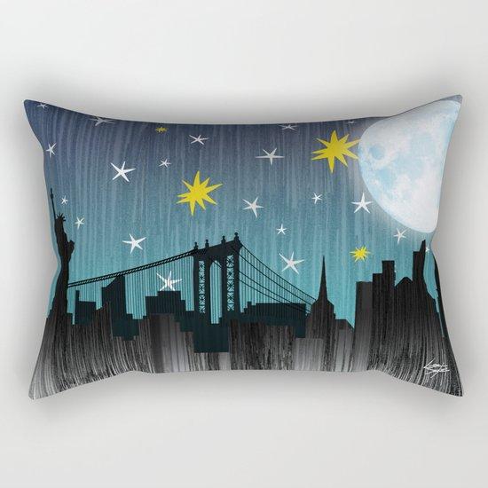 Starry Night Over Manhattan Rectangular Pillow