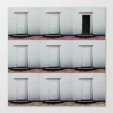 Three Different Floors, Eight Closed Doors Canvas Print