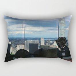 Top of the Rock View over Manhattan Rectangular Pillow