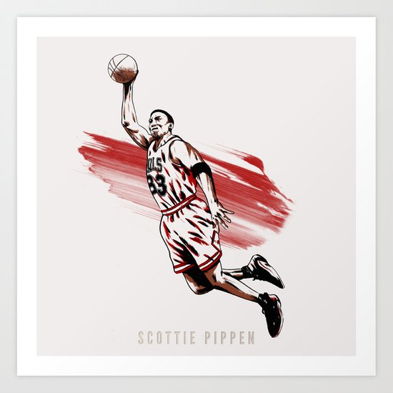 Scottie Pippen Art Print