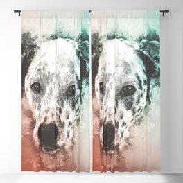 Dalmatian Digital Watercolor Painting Blackout Curtain