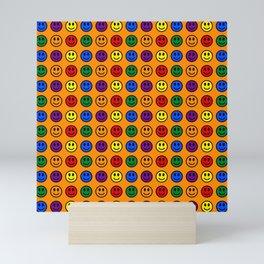 Orange Smiley Faces Pride Rainbow Colors Mini Art Print
