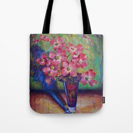 Dogwood flowers in a vase Tote Bag