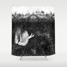 The Stars Beneath the Waves Shower Curtain