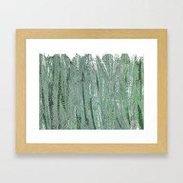 Gray-green Framed Art Print