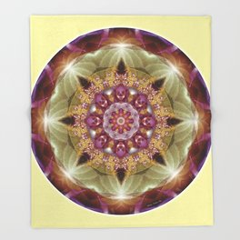 Mandalas from the Heart of Peace 1 Throw Blanket