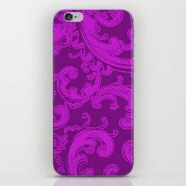 Retro Chic Swirl Dazzling Violet iPhone Skin