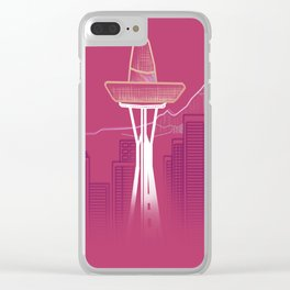 Seattle Sombre Clear iPhone Case