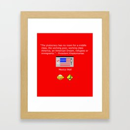 The Plutocracy in America Framed Art Print