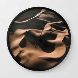 Lovers in the Sand - Aerial Landscape Photography Wall Clock