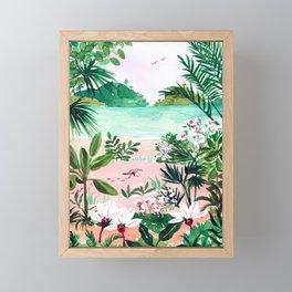 Seaside Meadow Framed Mini Art Print