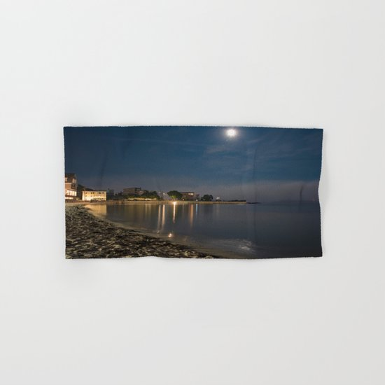 Foggy Moonlit Beach Hand & Bath Towel