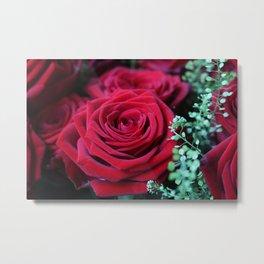 Deep Red Rose Metal Print