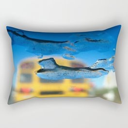 yellow bus and ice photography Rectangular Pillow