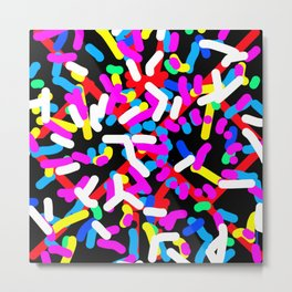 Colorful Candy Topping Metal Print