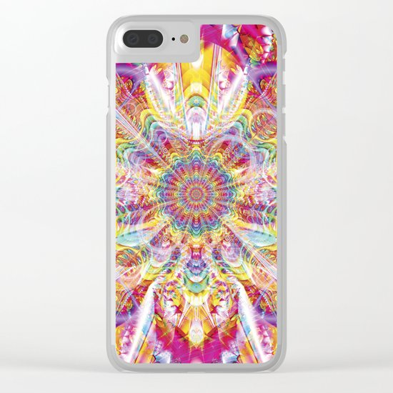 Psychedelic Soiree Clear iPhone Case