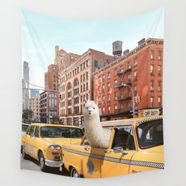 Alpaca in New York Wall Tapestry